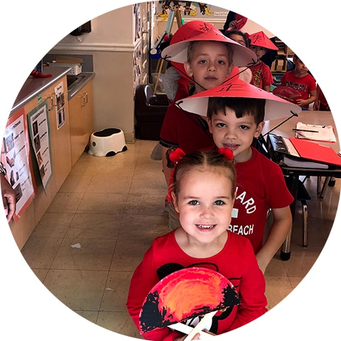 Children in hats